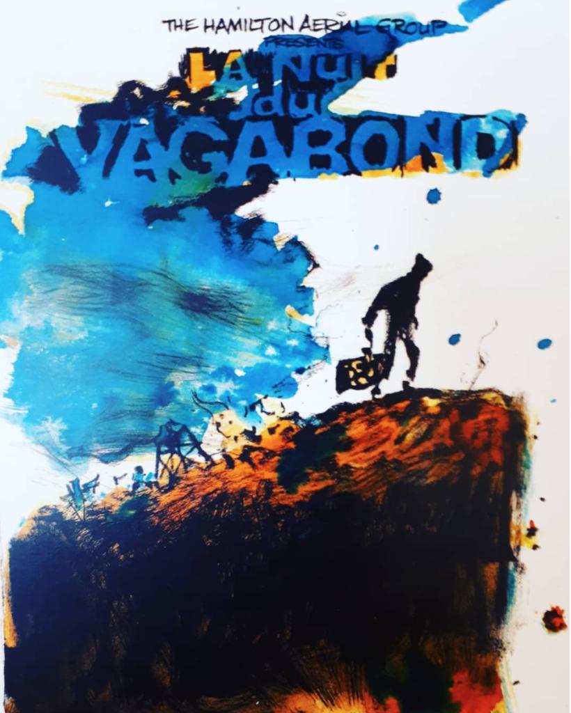 Hamilton Aerial Group Cabaret 2019 Poster - La Nuit Du Vagabond